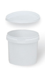 BOLL- kontti valkoinen muovi 0,24L kannella 0070197